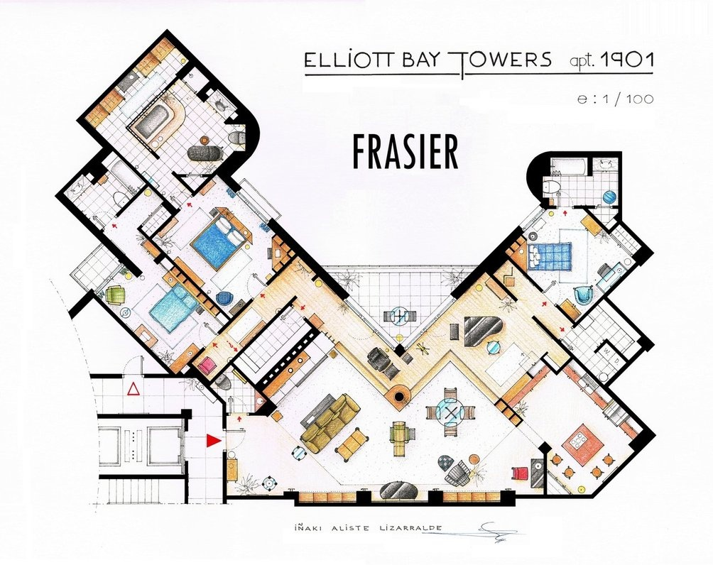 Floor plans of homes from famous tv shows for House blueprints
