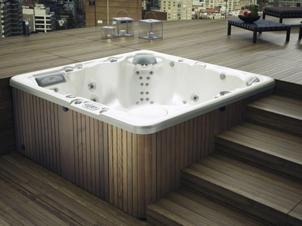 Glass- 6 seater hydromassage mini pool spa