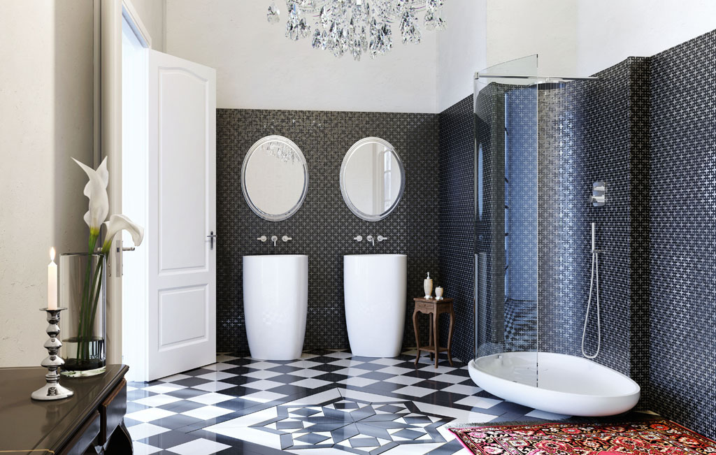 Art Deco Inspired Italian Bathroom Interior Design Ideas