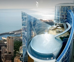 Monaco Penthouse- outdoor rooftop infinity pool with ocean views