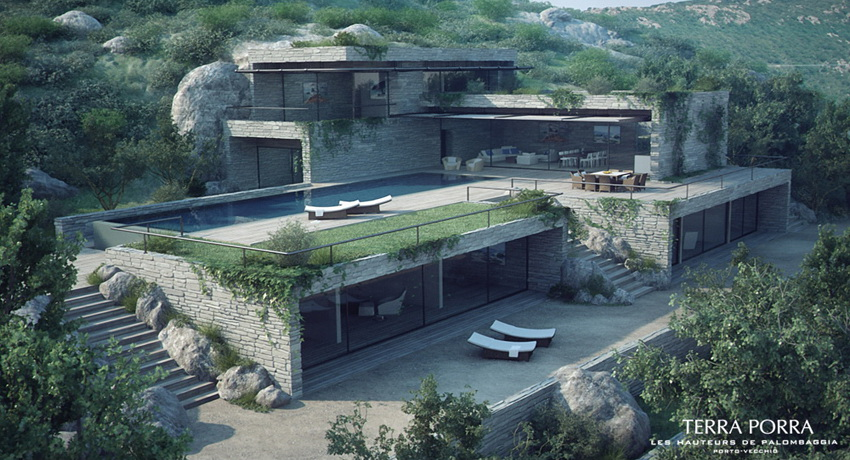 Delightful Mountainside Home Plans #3: Ordinary Mountainside House Plans #1: Mountain-side-villa-with-pool