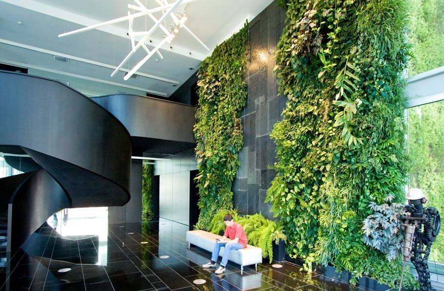 Office Foyer Ideas : Vertical gardens