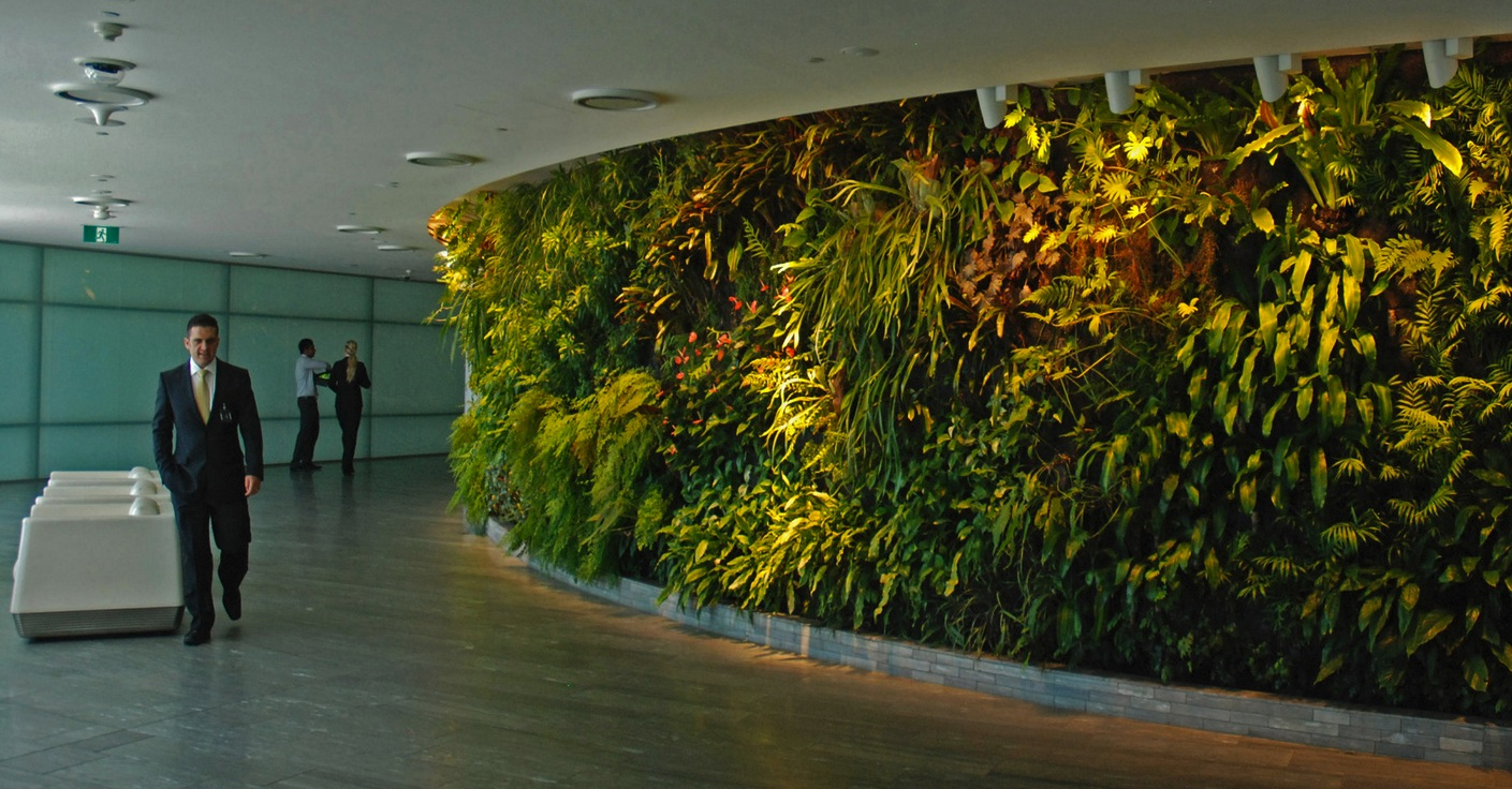 Vertical gardens for Garden office interior design ideas