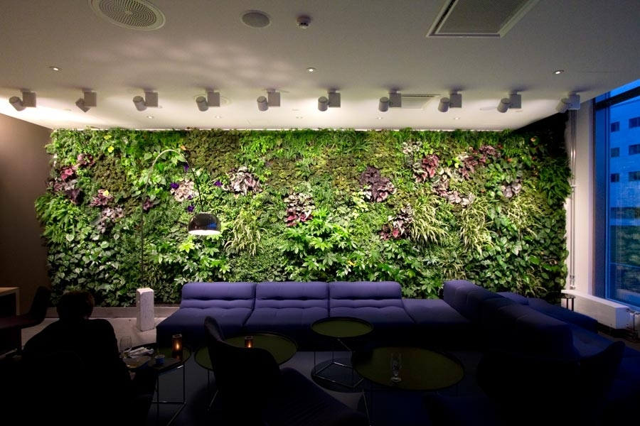Office gardening Inside Commercial Vertical Gardens Calyx Flowers Vertical Gardens