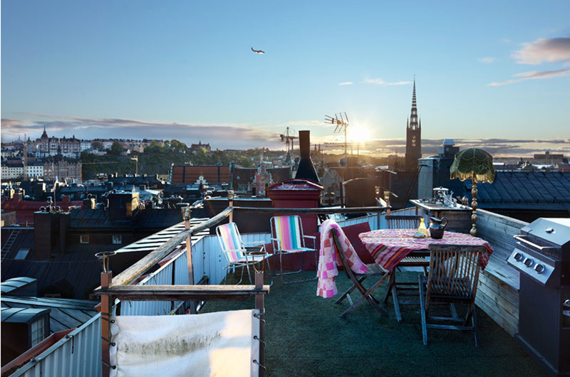 Ragner Omarsson Eclectic Rooftop - 31 picturesque romantic places to draw inspiration from