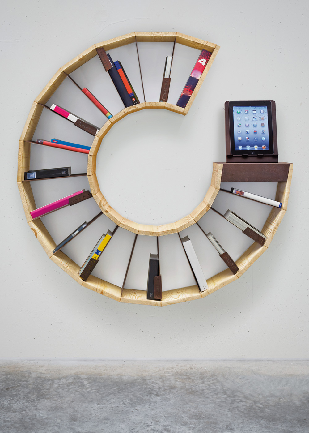 20 creative bookshelves modern and modular - Wall Hanging Book Shelf