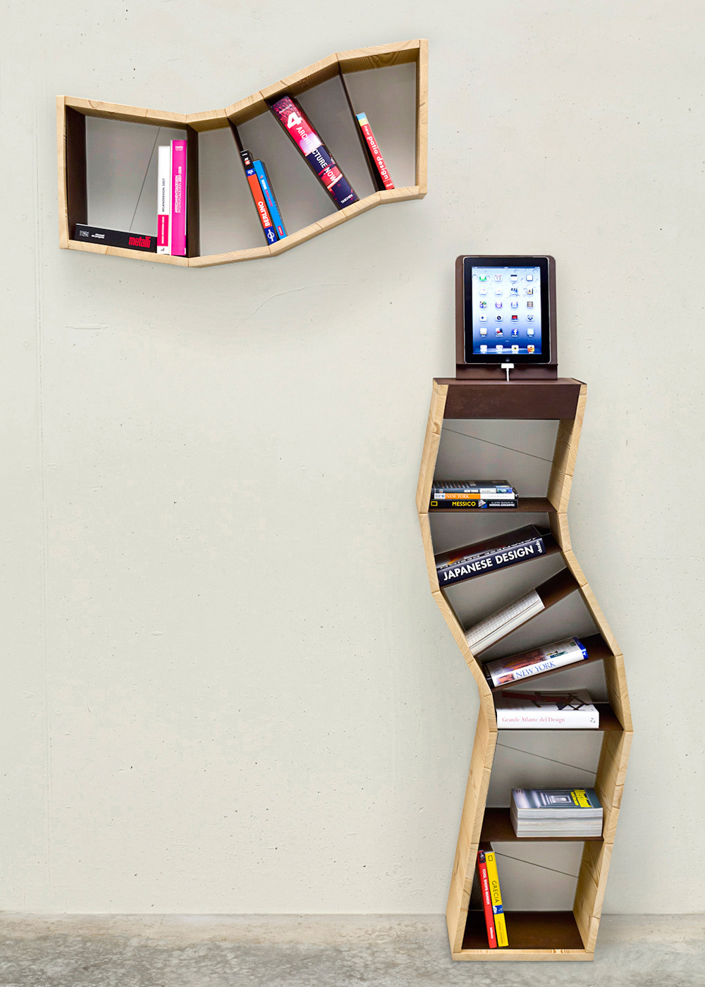 wall bookcase design in - photo #11