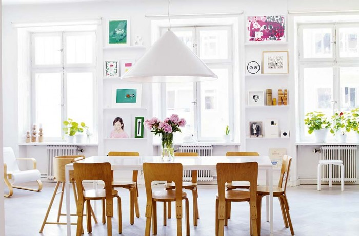 Skeppsholmen- Quirky art collection Modern Swedish dining