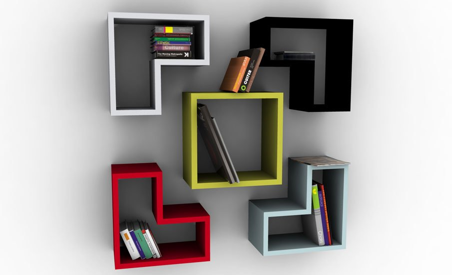 Wall Hanging Shelves Design corner shelf wall system 20 Creative Bookshelves Modern And Modular