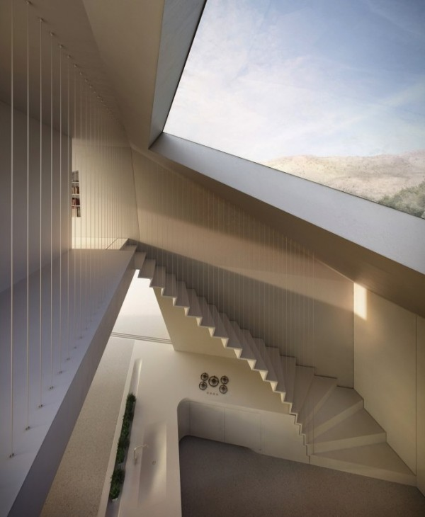 Stairwell Modern Holiday House Greece