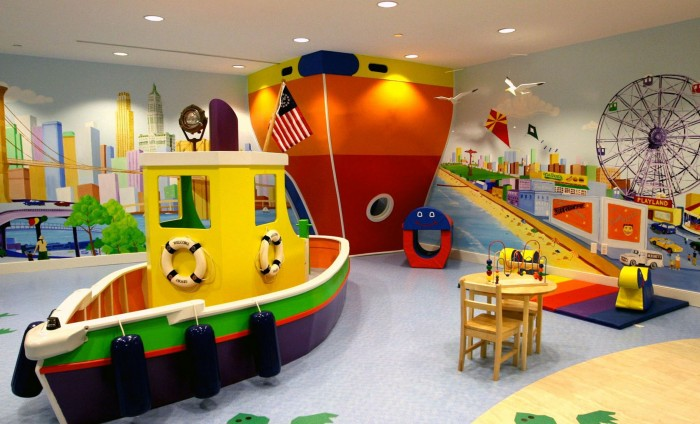 TwD Ship themed child's playroom ferris wheel harbour