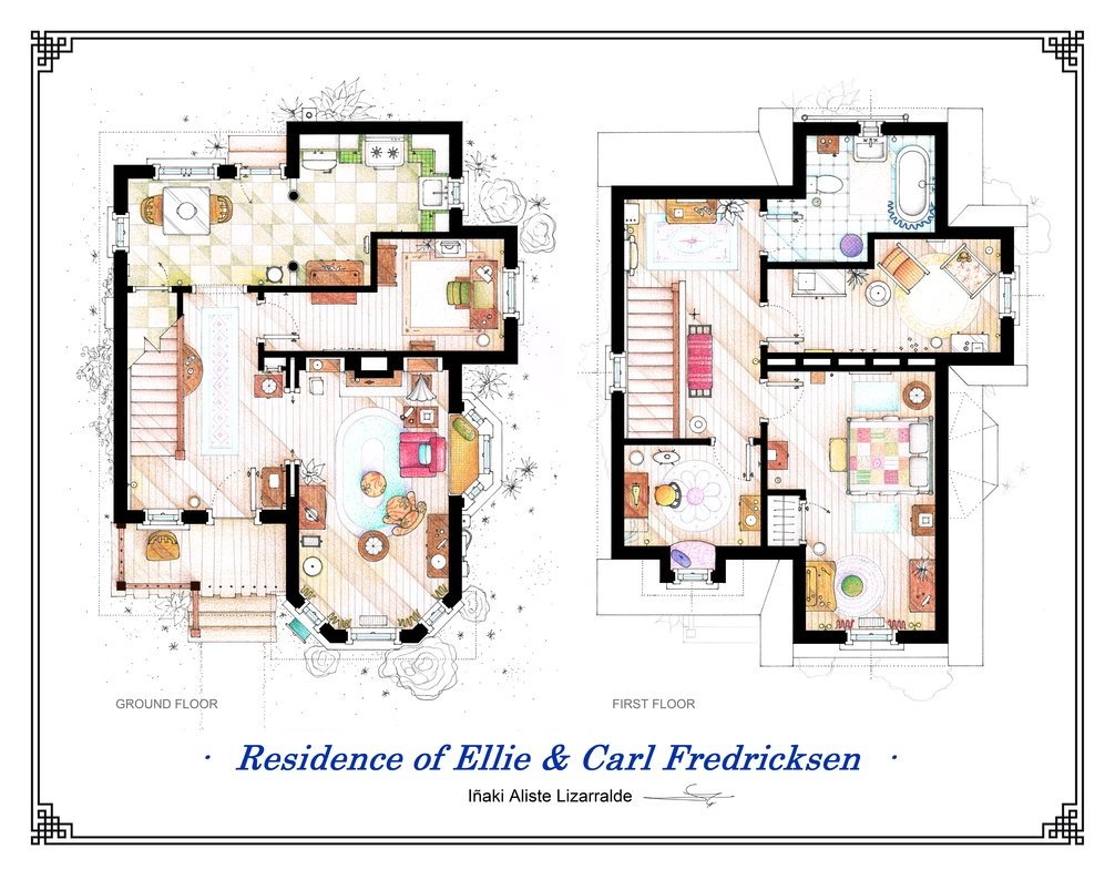 Floor plans of homes from famous tv shows for Miami mansion floor plans