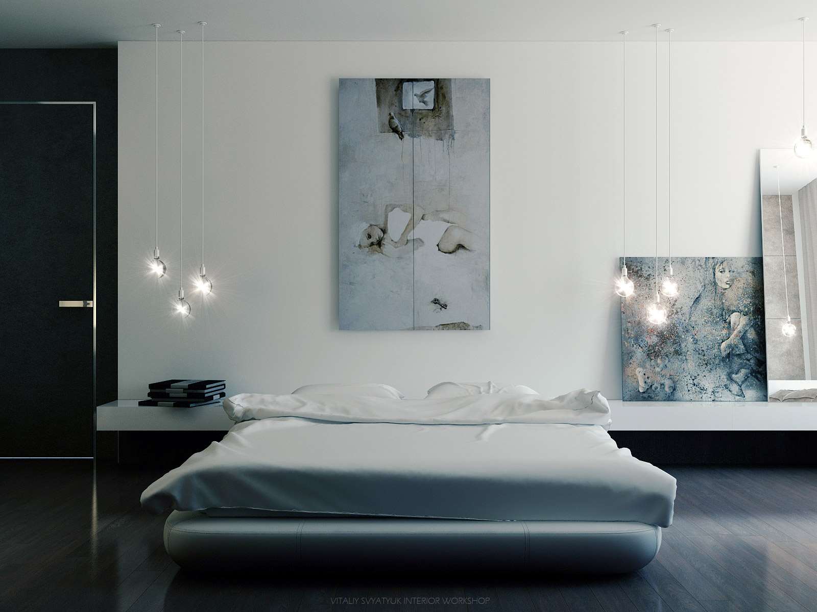 modern art vitaly svyatyuk cool art cool pallete bedroom interior