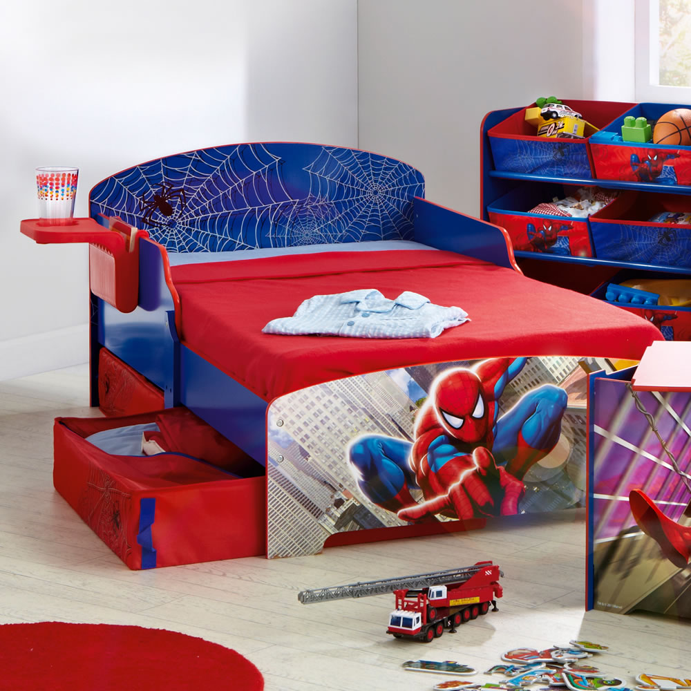 boys room spiderman theme bed interior design ideas