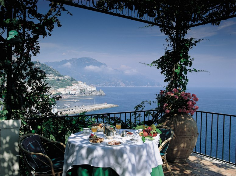 Brunch In Dappled Sunlight On Terrace With Coastal Views - 31 picturesque romantic places to draw inspiration from