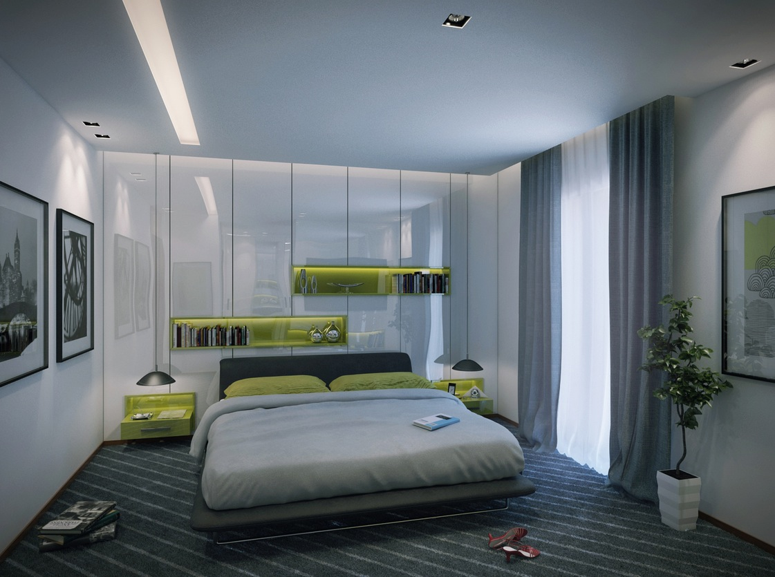 contemporary apartment bedroom : contemporary-apartment-living-room - designwebi.com