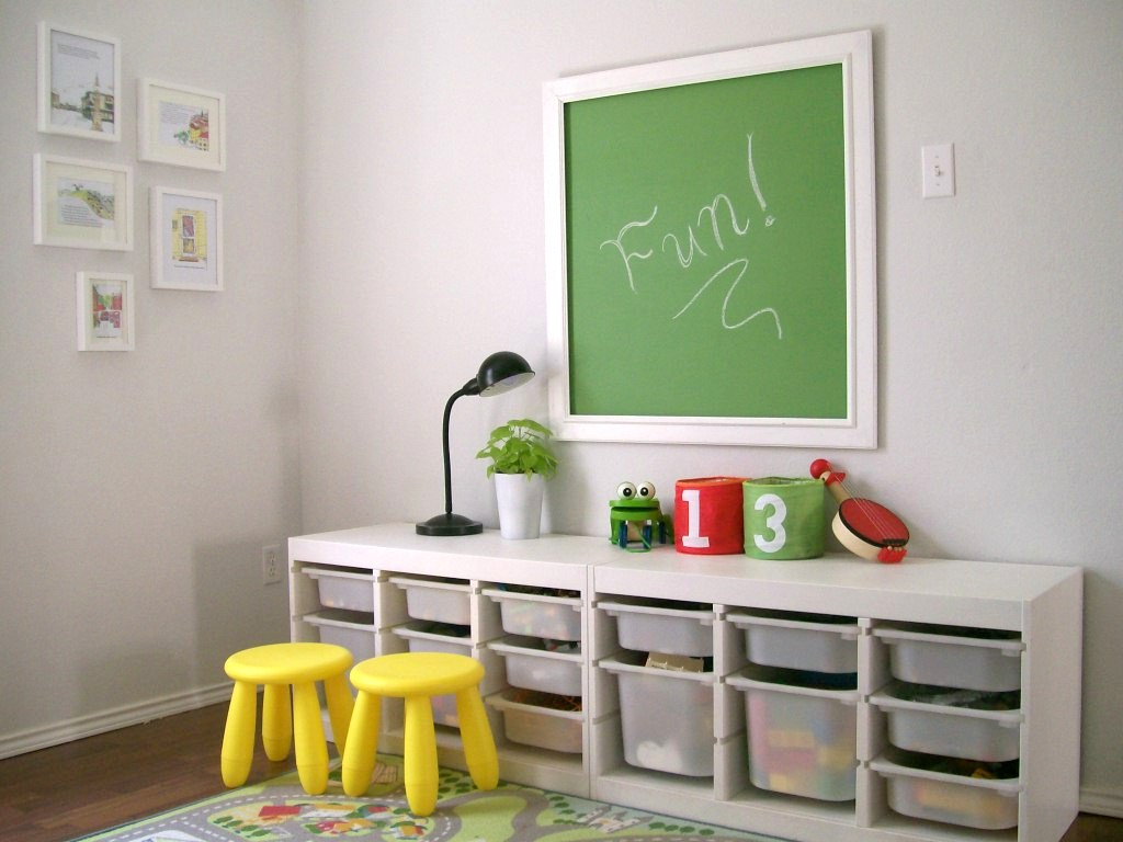 Kids playroom designs ideas for Storage for kids rooms