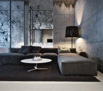 grey house living space 2