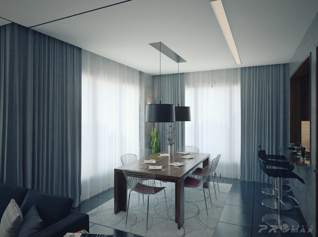 Three modern apartments a trio of stunning spaces - Small apartment dining room ...