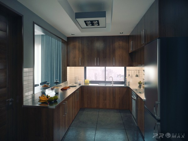 modern apartment 1 kitchen
