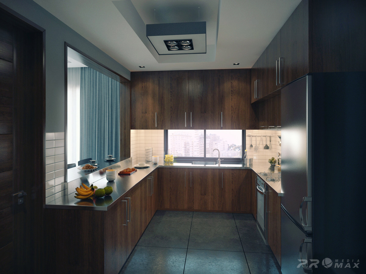 Modern apartment 1 kitchen interior design ideas for Modern apartment interior