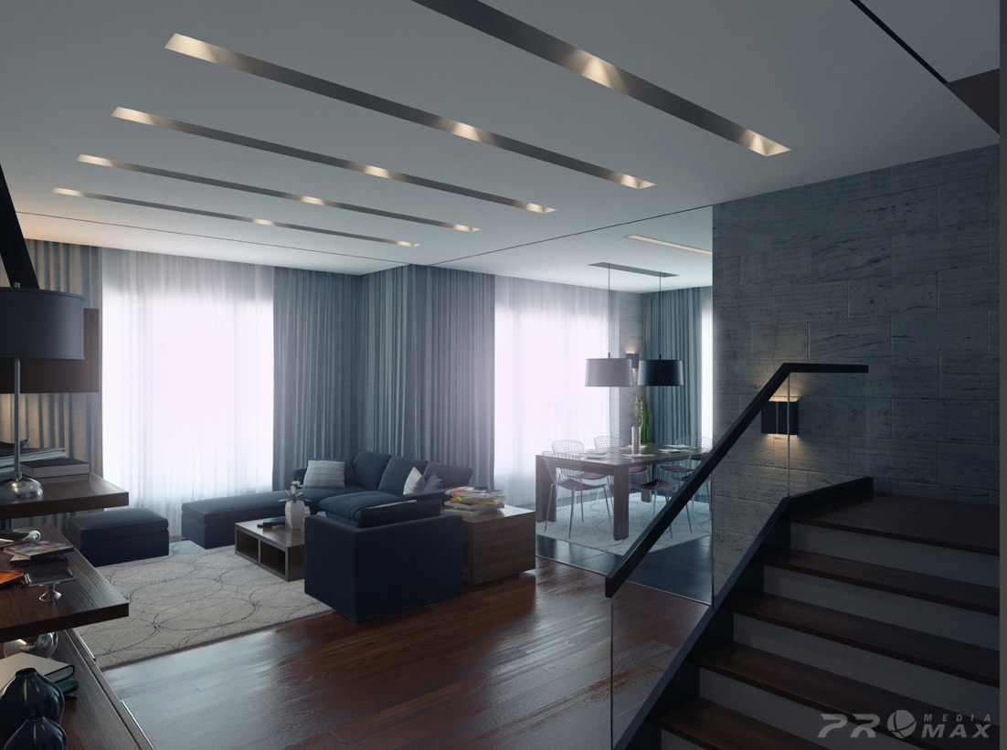 Modern apartment 1 living room 2 interior design ideas for Living room ideas apartment