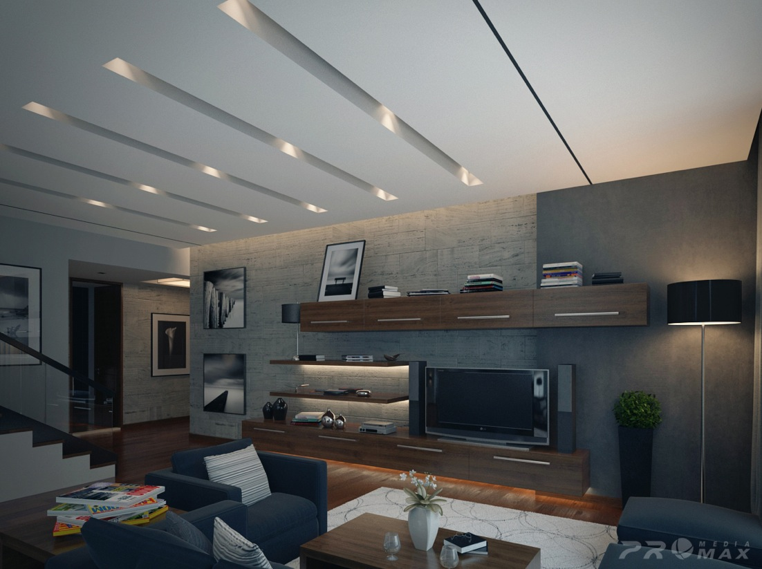 Modern apartment 1 living room interior design ideas Interior design ideas living room apartment