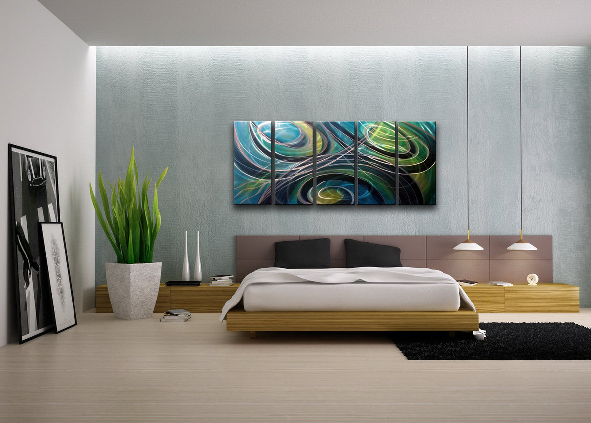 Modern bedroom wall decoration - Popular