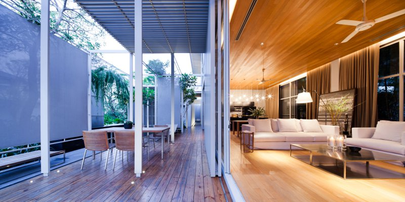 Modern Houses Interior And Exterior Bangkok House With A U...