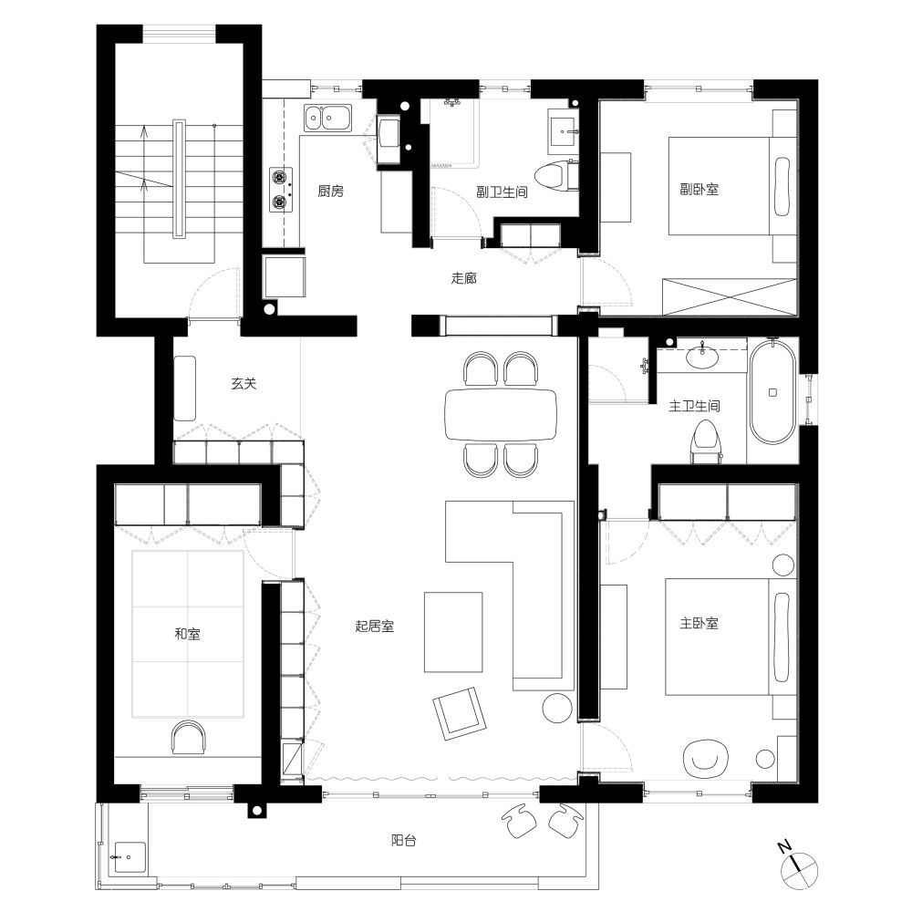 Modern shanghai house floor plan interior design ideas for Apartment floor plans designs