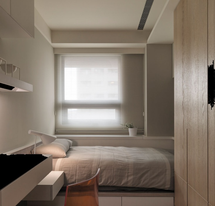 Neutral Contemporary Space Bedroom - Neutral contemporary apartment by w c h design studio