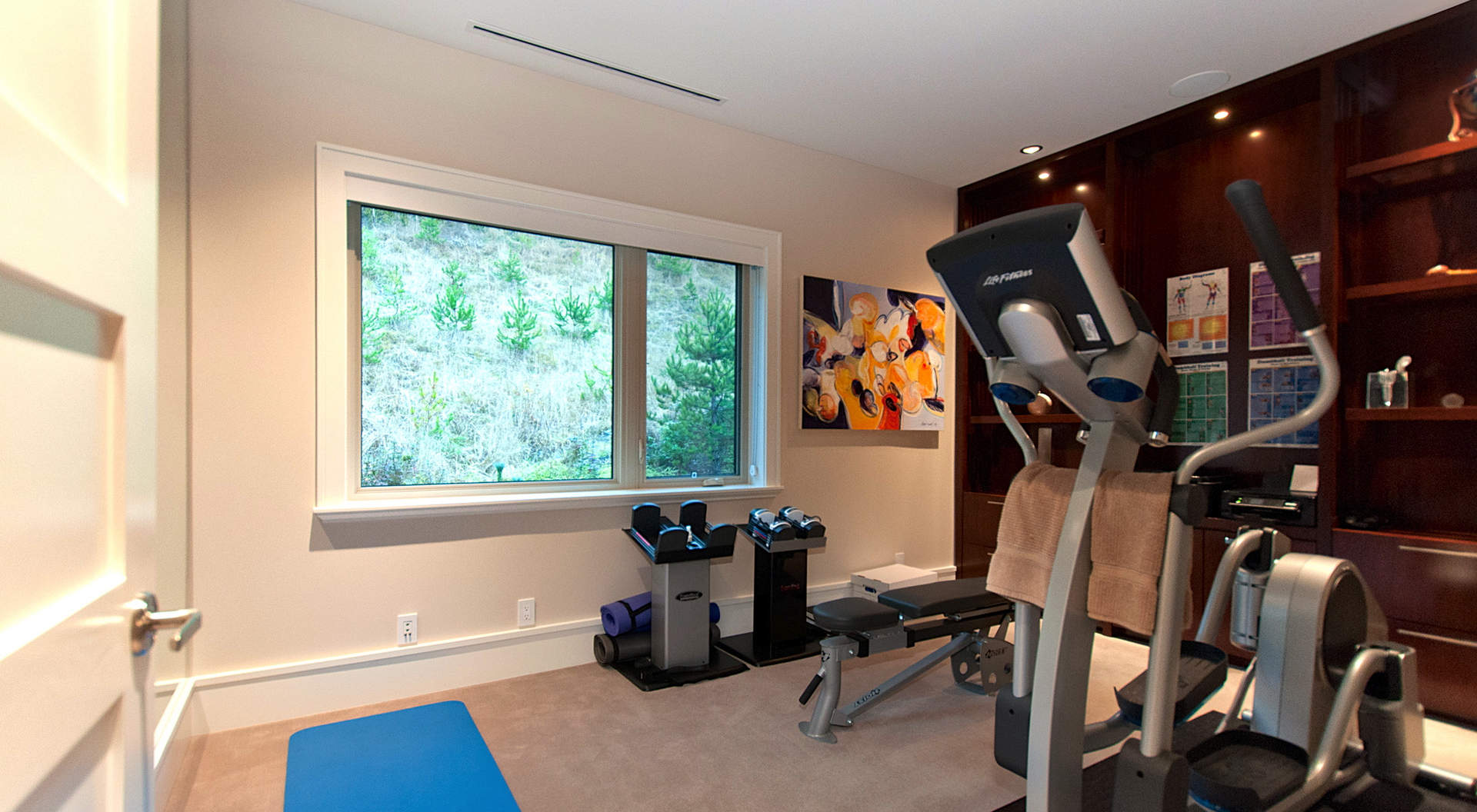 penthouse home gym | Interior Design Ideas.