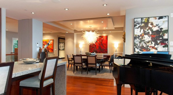 penthouse living room dining room