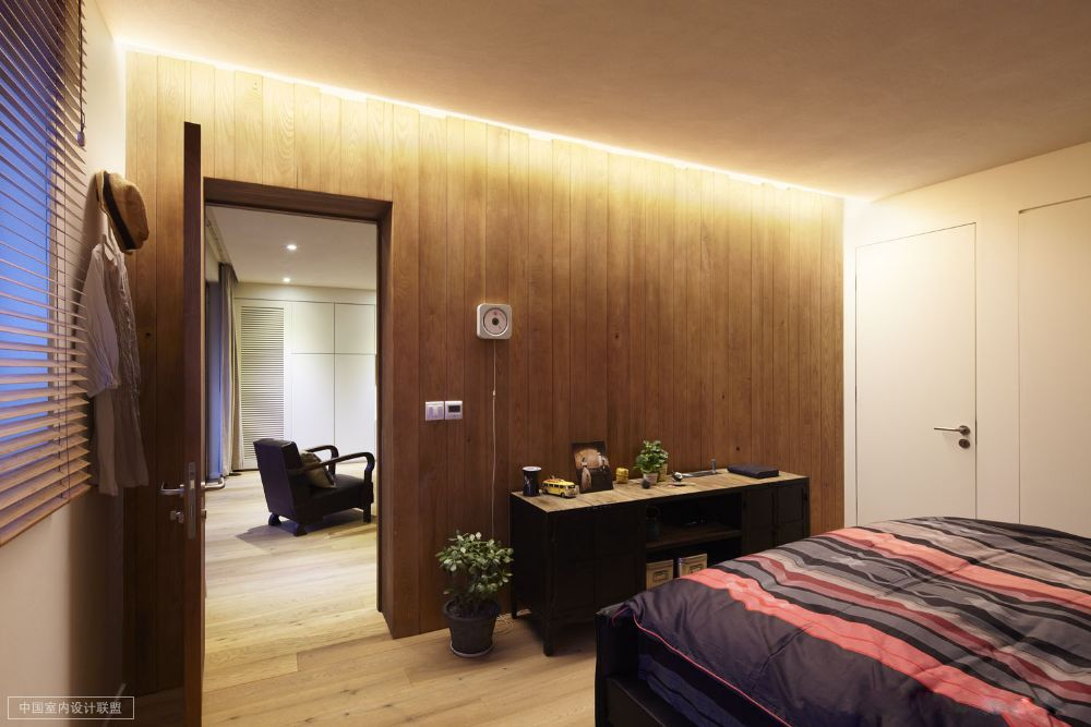 Simple Bedroom Images simple bedroom warm wooden cladding and occasional chest topped