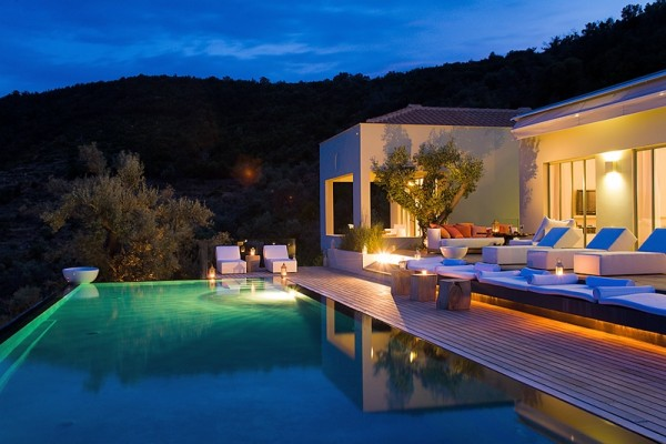 With room to sleep 10 guests, Villa Eudokia consists of three separate holiday villas in one complex overlooking Ionian Sea and encompassing its own private beach.