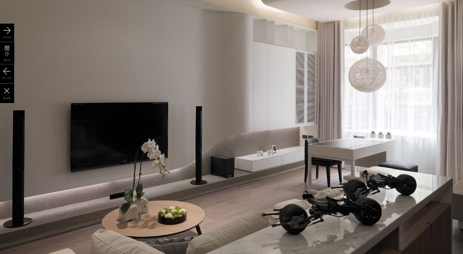 White modern living room 2 interior design ideas for Modern apartment living room design