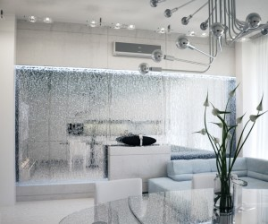 Alexander Lysak Visualization- mirrored water feature wall partition