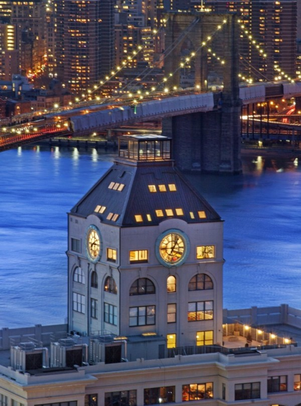 Clock Tower Apartment- exterior with rooftop and views of NYC at night