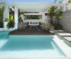 Custom Pool Area- outdoor lounge patio
