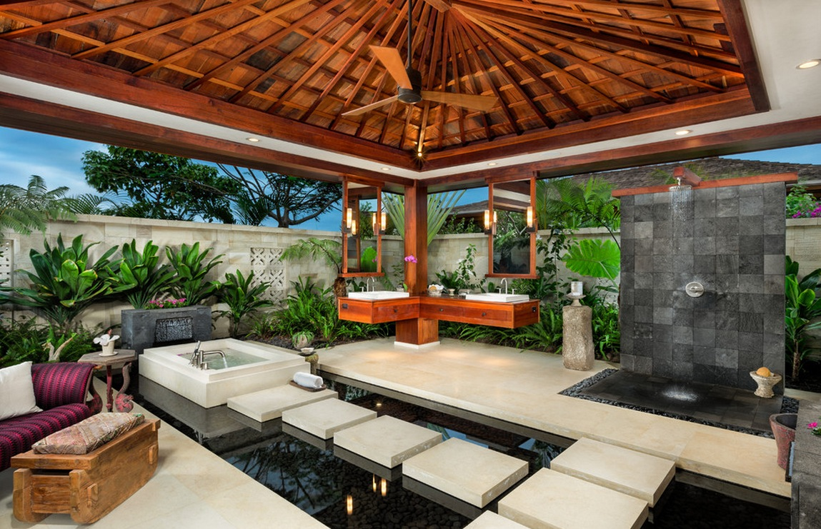 Ethan Tweedie Tropical Outdoor Living Floating On Water