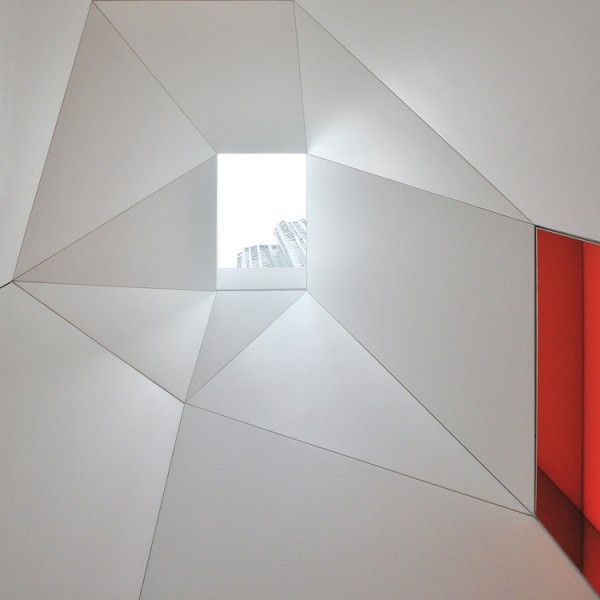 Internal angles with view to skylight in red and white