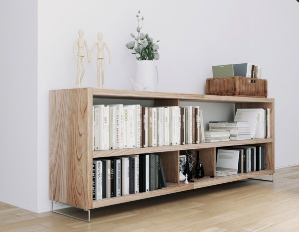 Scandinavian Apartment- organic natural wood storage