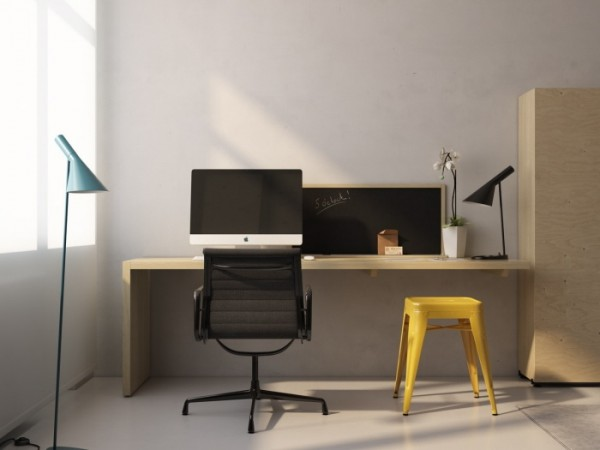 Transformer Apartment- functional workspace minimal and modern