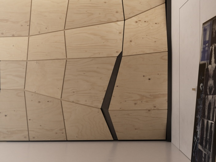 Transformer Apartment Plywood Partition Angular