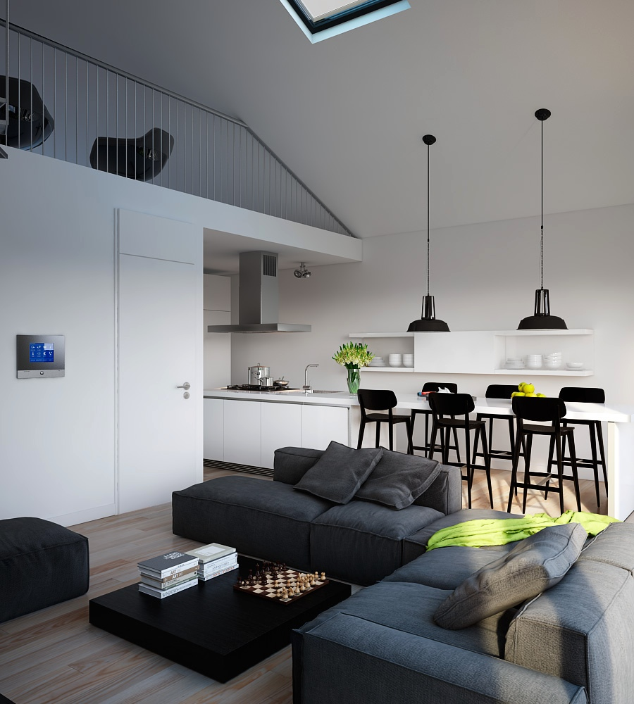 Visualizations of modern apartments that inspire for Decoration de salon interieur