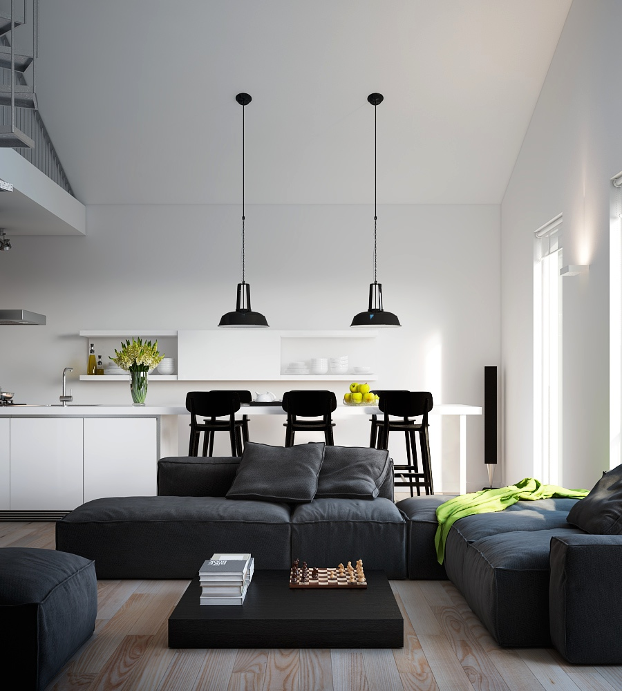 Visualizations of modern apartments that inspire for Zona living moderna