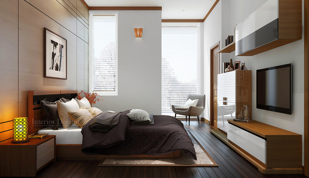 Like Architecture   Interior Design  Follow Us. Tuananh Eke s white and wood bedroom with rich accents and warm