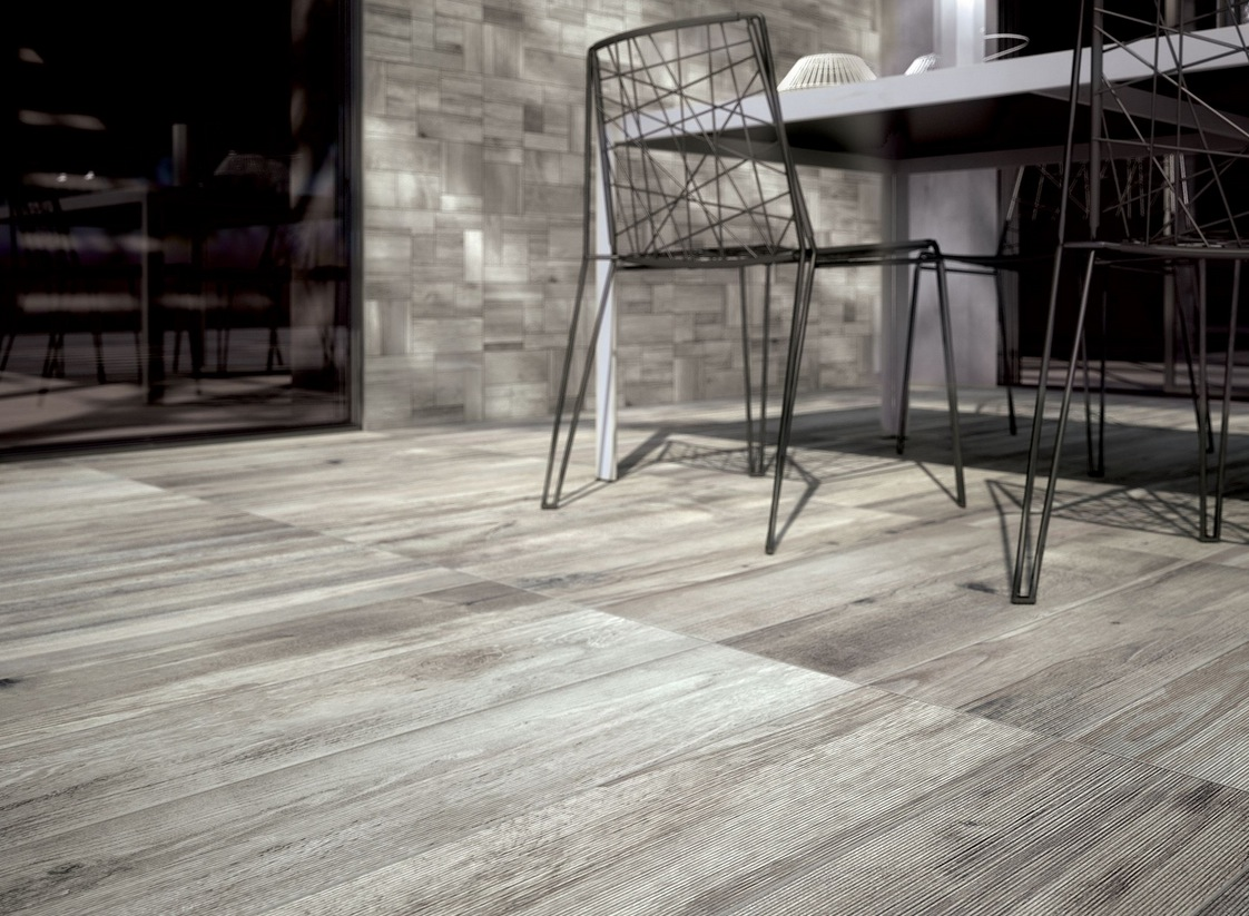 Wood look tiles - Grey wood floors modern interior design ...