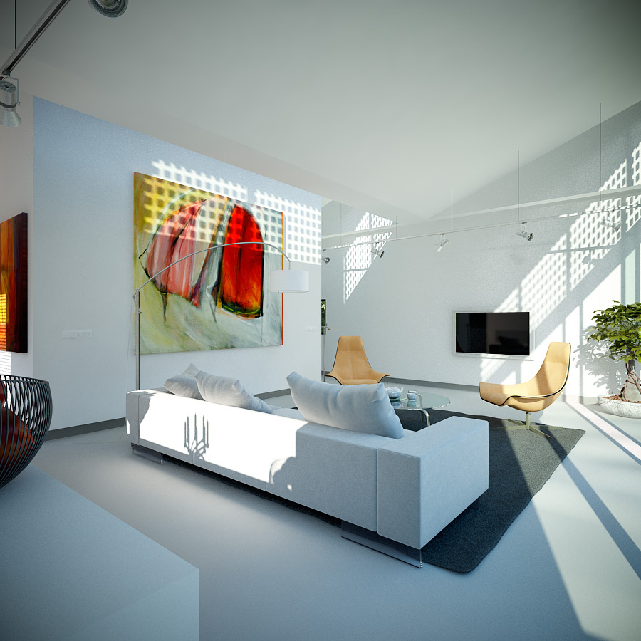 Visualizations from triple d designs for Artistic living room ideas