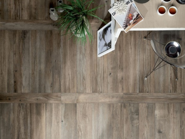 medium Floor tiles intended to look like short wooden floor boards
